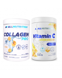 Allnutrition COLLAGEN PRO 400g + Allnutrition VITAMIN C ANTIOXIDANT, WITAMINA C 500g